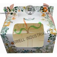 Buy cheap Recycled White Cardboard Cake Packaging Boxes With Lids Full CMYK Printing product