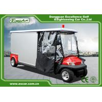 Buy cheap Cusomize Red 48V Electric Ambulance Car 2 Passenger for hospital product