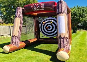 Buy cheap Interactive Inflatable Battle Axe Game / Inflatable Flying Axe Throwing Challenge Carnival Game product
