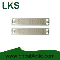 Buy cheap Stainless 316 90mm x 19mm x 0.5mm cable tag(Laser cable tag) product