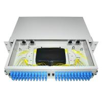 Buy cheap 24 48 96 Ports Dustproof LC SC 19' Rack Mount Fiber Terminal Box Enclosure Fiber Distribution Patch Panel from wholesalers