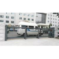 Buy cheap Trackless Motorised Steel Iron Telescopic Sliding Gate For Stadium With Powder Coating Protection product