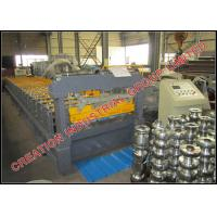 Buy cheap Horizontal Pre-Painted Steel / Aluminium Roof Panel Roll Forming Machine with 5 Tons Decoiler product