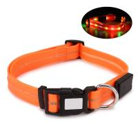Buy cheap Adjustable Waterproof LED Dog Collar 17.7 - 24.8 Inch PVC / POM Plastic Buckles product