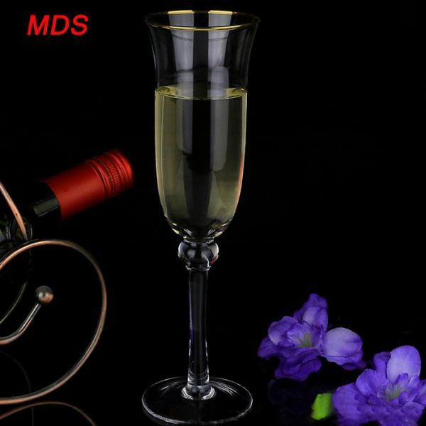 Quality Monogrammed gold rimmed champagne flutes for sale for sale