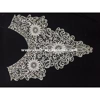 Cheap Cotton Chemical Embroidery Wide Lace Collar Customized For Garment Accessories wholesale