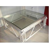 Buy cheap Transparent Plexiglass Temporary Stage Platforms Square Fireproof Long Span product