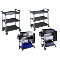 Buy cheap Foldable Restaurant Or Hotel Room Service Cart Stainless Steel With Plastic And Tote Box product