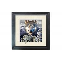 Buy cheap 5D Effect Wolf 3D Lenticular Photo Printing For House Decoration MDF Frame product