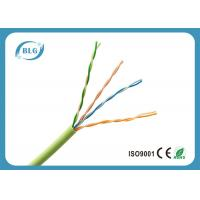 Buy cheap 0.5mm Bare Copper UTP Cat5e Lan Cable For Indoor Use PVC Jacket Weatherproof product