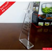China Blank Trophy Clear Acrylic Trophies And Awards With Silk Printing on sale