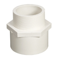 Buy cheap White Blue Color Male Adapter Threaded Pvc Coupling Dn50 product