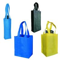 Buy cheap Folding Double Wine Bottle Gift Bags Wine Carrying Handbag AZO Free Standard product