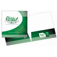Buy cheap 250G Presentation File Folder Paper 2 Pockets Full Color Printing product