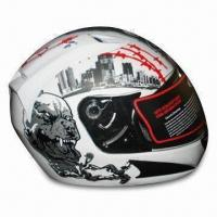 Buy cheap Motorcycle Helmet with Two high-capacity Forehead Intake Vents/Plush Brushed Comfortable Interior product