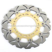 China Gladius 650 Motorcycle Floating Brake Disc CNC Milled Aluminum Alloy 6 Holes on sale