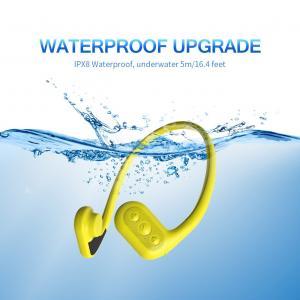 China Conduction Waterproof Headset mp3/FM Bone Conduction Waterproof mp3 Player for Swimming on sale