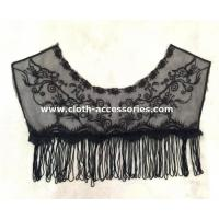 Buy cheap Fringe Black Crochet Lace Collar Necklace 100% Polyester With Tassel product