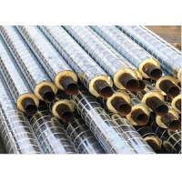 Buy cheap DN200mm 350Degree Celsius Polyurethane Foam Insulation Pipe / Cement Mortar Lining product
