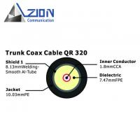 Buy cheap QR320 Trunk Coaxial Cable 1.80mm CCA Conductor with 10.03mm PE Jacket product