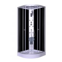 Buy cheap Steam Massage with Electronic computer panel Circle Quadrant Shower Cabin with white acrylic tray and roof product