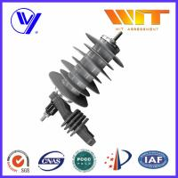 Buy cheap 18KV Silicon Rubber Metal Oxide Station Class Surge Lightning Arresters for Transformer Protection product