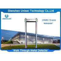 China High Sensitivity Portable Walk Through Metal Detector Security Gate With Waterproof  Function on sale