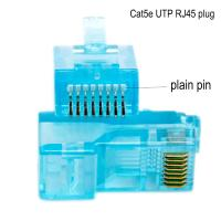 Buy cheap Networking Cable OEM 8P8C CAT5E Ethernet Cable Plugs with transparent product