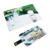 China Full color printing business card usb flash drive on sale