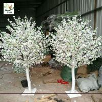 Buy cheap UVG white and pink small fake peach blossom centerpieces table trees for wedding hall decoration CHR169 from wholesalers