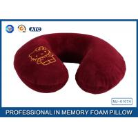 Buy cheap Cartoon Embroidery Comfortable Memory Foam Travel Neck Pillow Violet / Red / Blue product