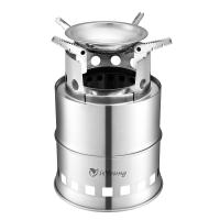 Buy cheap Stainless Steel Wood Burning Camping Stove With 4 Flexible Non Slip Arm product
