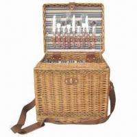 Buy cheap Willow Wicker Picnic Basket, Suitable for Camping and Family Use, Holds 3 Set of Tableware product