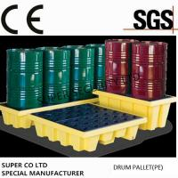 Buy cheap Polyethylene Drum Containment Pallets For Chemical , Acids Amd Corrosives Liquid Distributed Load 1100kg product