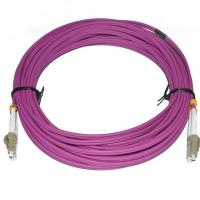 Buy cheap PVC Material Fiber Optic Patch Cord 10 Meter Length LC DX MM 2.0 Diameter For CATV product