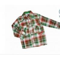 Buy cheap OEM Red and Green Combo Long Sleeve Kids Plaid Shirts England Style For Spring from wholesalers