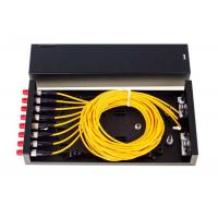 Buy cheap 8 Port Fiber Optic Distribution Frame ODF FC SC LC ST Black Fiber Optic Patch Panel from wholesalers