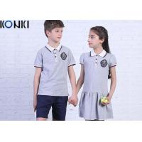 Casual Customized Middle School Uniforms Polo Shirt And Dress