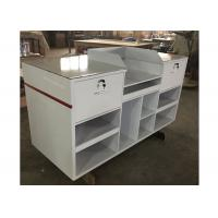 Buy cheap 1.5M Length Lightweight Retail Checkout Counter With Artificial Stone Simple Style product