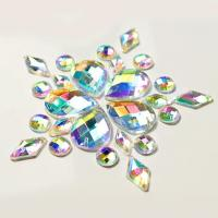 Buy cheap Colorful Pear Shaped Sew On Glass Crystals , Extremely Shiny Sew On Gemstones product