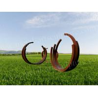Contemporary Corten Steel Statue As Outdoor Welding Art Sculpture For Garden