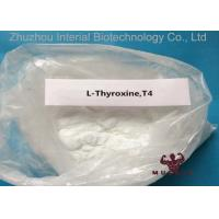 Buy cheap Natural Pharmaceutical Powders L Thyroxine T4 For Fat Weight Loss CAS 51-48-9 99.3% Purity product