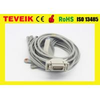 Buy cheap Medical use 10 lead ekg cable ,snap ecg cable, compatible Siemens / Hellige ekg cable from wholesalers