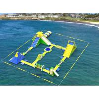 Buy cheap Giant Inflatable Floating Water Games /  Inflatable Aqua Park With Trampoline product