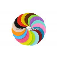 Buy cheap Promotional gifts round shape anti-slip soft silicone multifunctional pot mat custom and wholesale product
