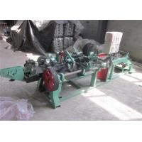 Quality 1.6 - 3.0 Mm Single Strand Barbed Wire Making Machine Durable Long Service Life for sale