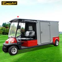 China RED 48V 2 seater Electric Ambulance Car / Club Emergency Golf Carts on sale
