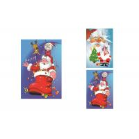 Buy cheap 2 Pictures Changed Lenticular Flip 3d Merry Christmas Greeting Card 12 x 17cm product