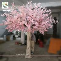 Buy cheap UVG 10 foot pink cherry blossom decorative artificial trees for church wedding decorations CHR170 from wholesalers