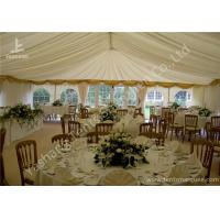 Buy cheap White Fabric Cover Aluminum Profile Luxury Wedding Tents With Milk White Roof Lining product